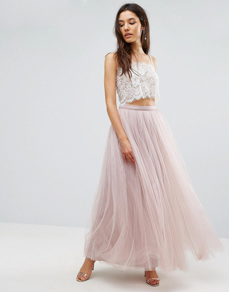 Little Mistress Maxi Tulle Skirt - Mink
