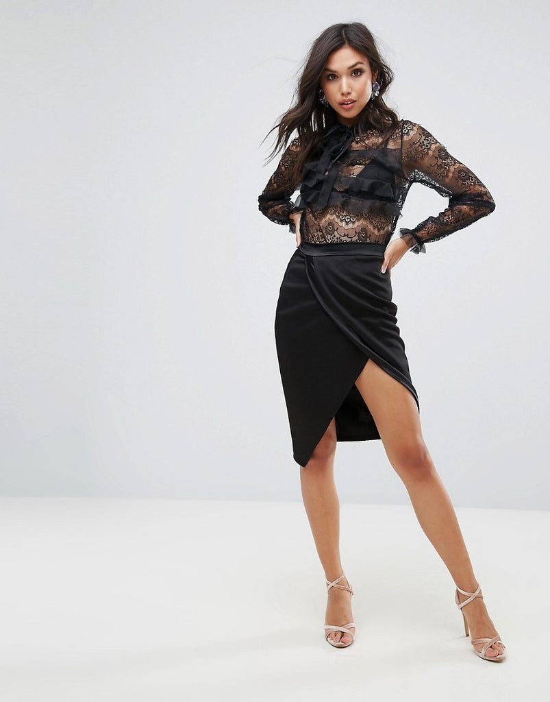 Club L Wrap Skirt - Black