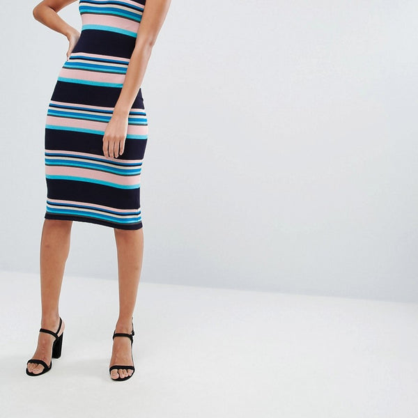 A State Of Being Stripe Midi Dress - Stripe