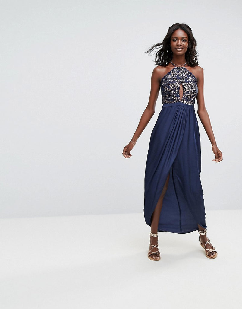 The Jetset Diaries Galadriel Maxi Dress - Marine