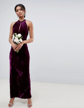 Ghost bridesmaid maxi dress with keyhole detail - Purple