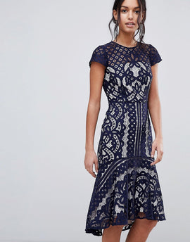 Coast Dee Dee Lace Dress - Navy