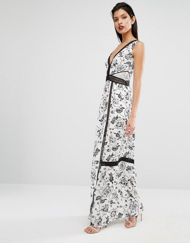 Self Portrait Clarissa Maxi Dress - White