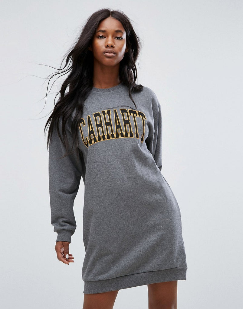 Carhartt WIP Oversized Sweat Dress With Varsity Logo - Tbc