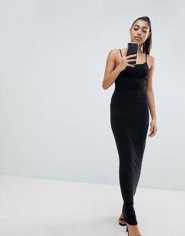 Fashionkilla Maxi Cami Dress - Black