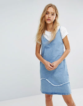 M.i.h Jeans Strappy Denim Dress with Fray Detail - Jansson jas