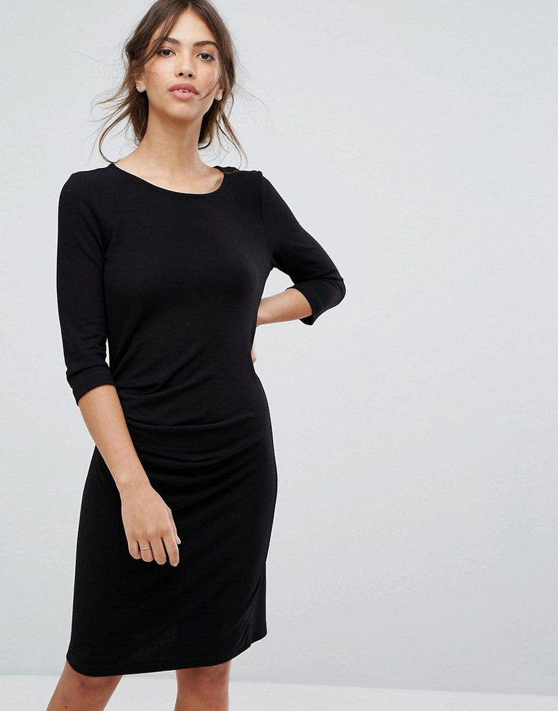 Vila Bodycon Knitted Dress - Black