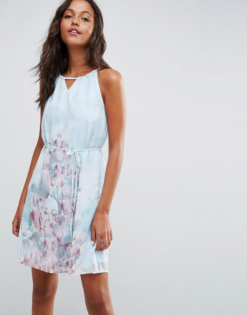 Lavand Floral Strappy Shoulder Dress - Multi