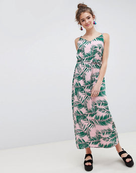 Blend She Adali Palmleaf Print Slip Dress - Printed
