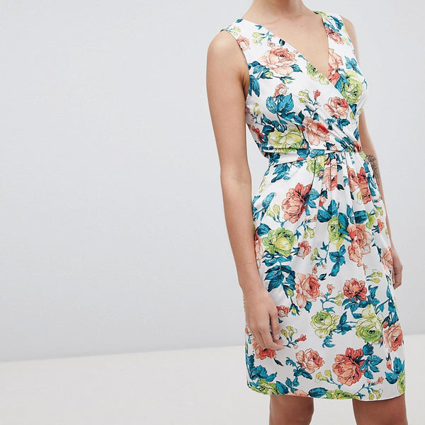 Closet London Floral Print Mini Dress - Multi