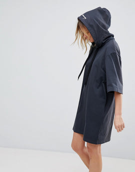 Cheap Monday Scibbled Logo Hoody Dress - Off black