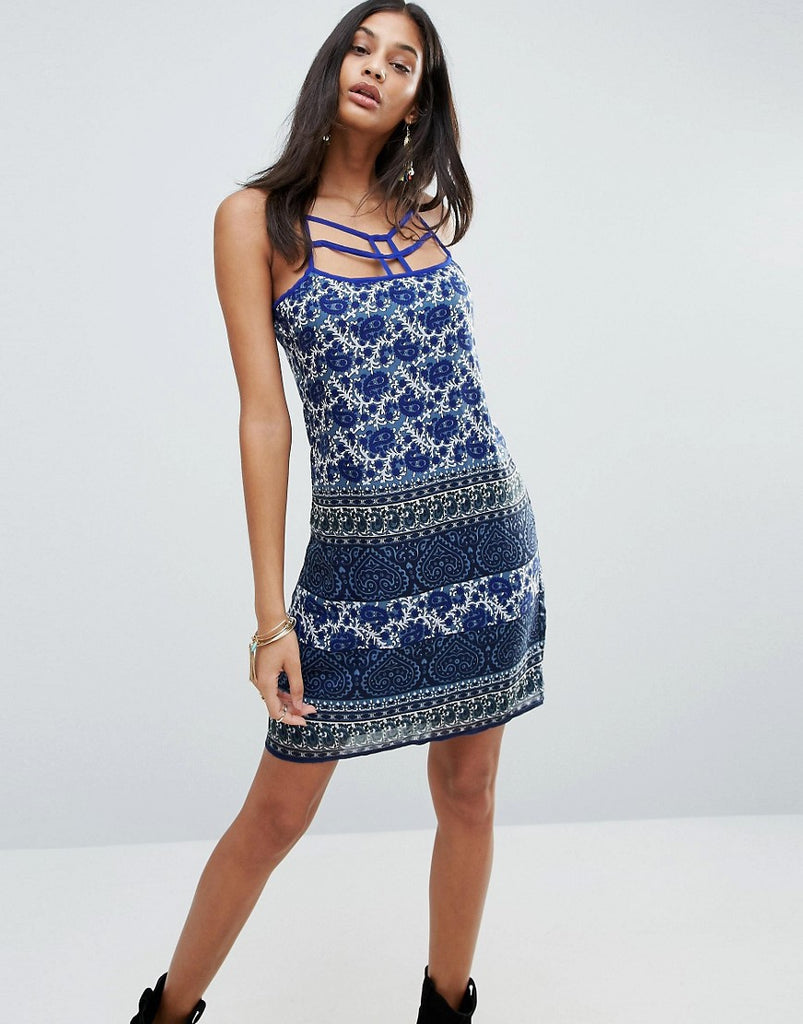 Raga Morning Glory Strappy Cami Dress - Navy