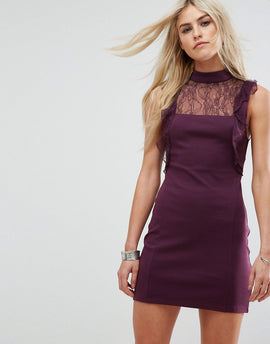 Free People Beaumont Muse Lace Detail Dress - Plum