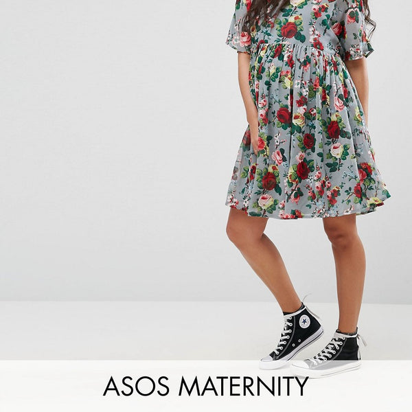 ASOS Maternity Woven Dress in Floral Print - Multi