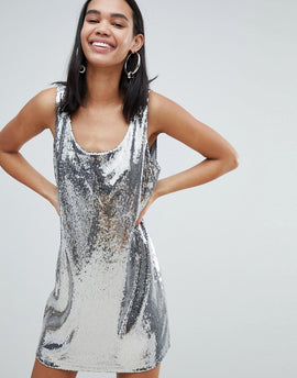 Weekday sequin dress in silver sequin - Silver sequin