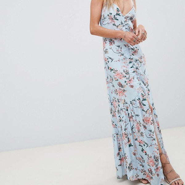 Flynn Skye Floral Maxi Dress - Blue my mind