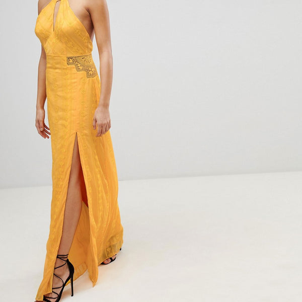 The Jetset Diaries Embroidered Maxi Dress - Marigold