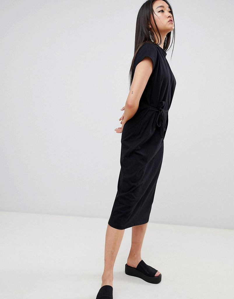 Cheap Monday Else Shoelace Tie Dress - Black