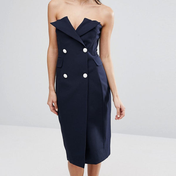 Asilio Point Blank Dress - Midnight navy