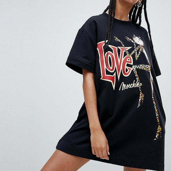 Love Moschino Catz Print Sweat Dress - C74