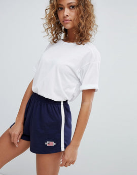 Pull&Bear jersey short in navy - Navy