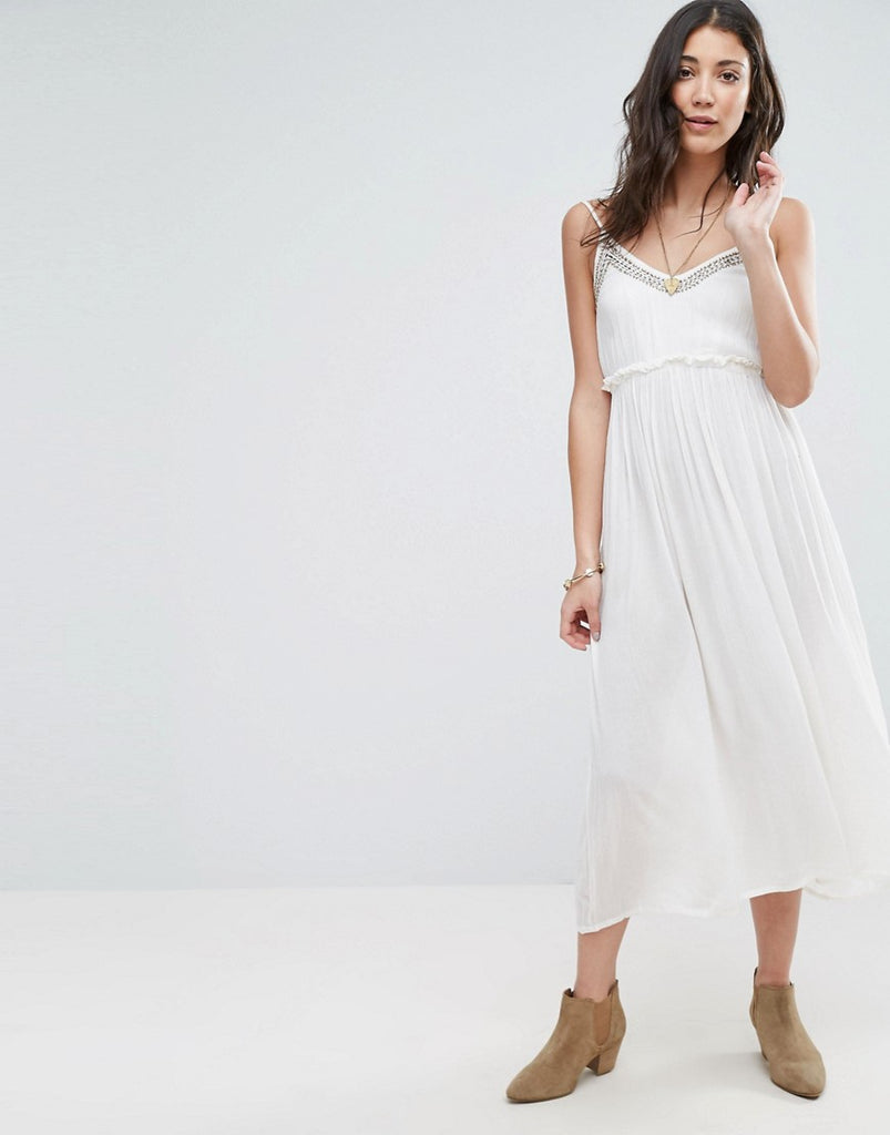 Raga Summer Romance Maxi Dress - Eggshell