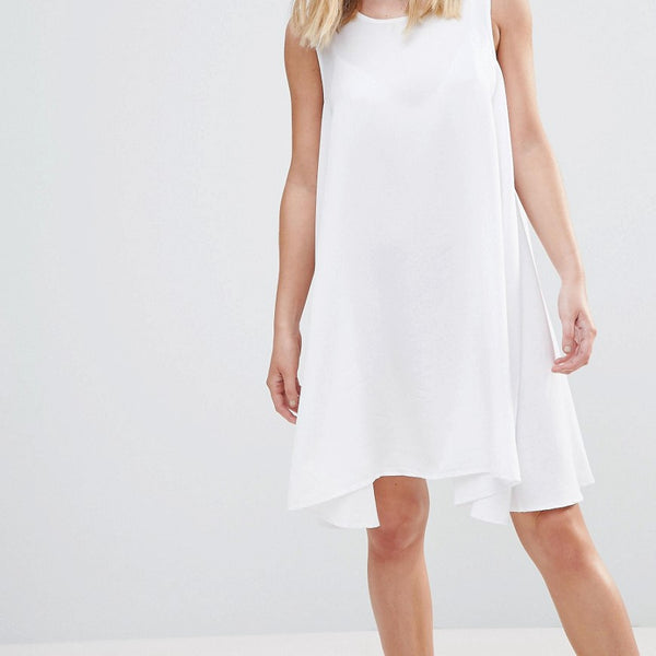 Native Youth Tencel Tent Dress - White