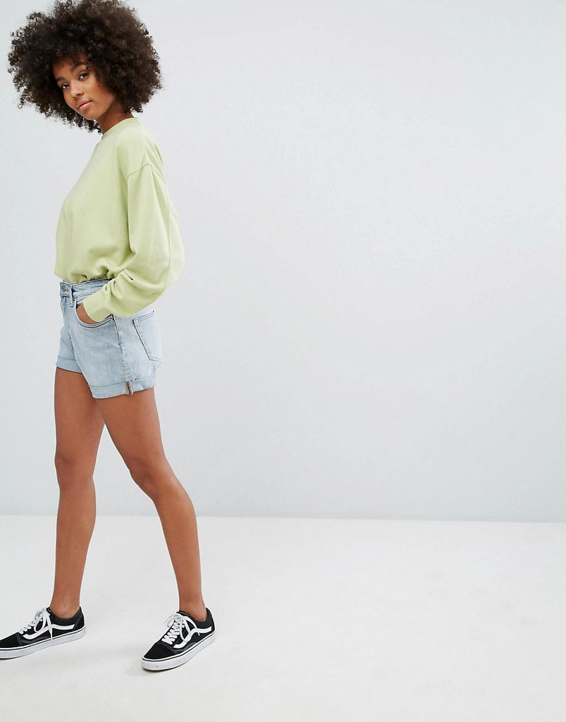Weekday Shorts with Roll hem - Blue beat
