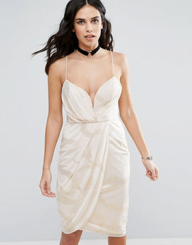 Free People Wrap Evening Dress - Pink