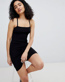Bershka cami dress in black - Black
