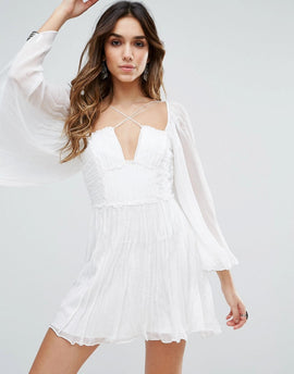 Free People Aquarius Layered Party Dress - Ivory