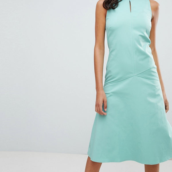 Closet London Midi Shift Dress - Green