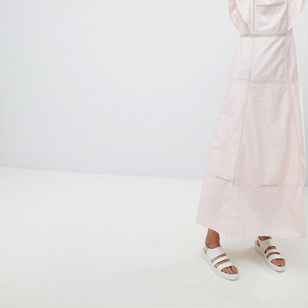 Paul & Joe Sister Frill Maxi Dress - Light pink