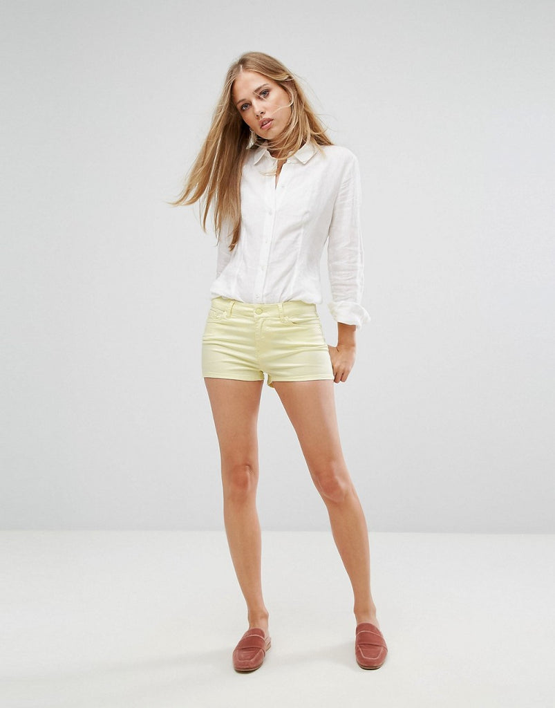 Vero Moda Denim Shorts - Yellow
