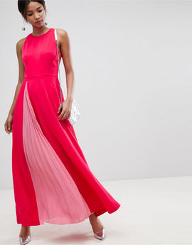 Ted Baker Madizon Maxi Dress - Deep pink