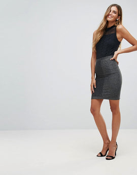 Y.A.S Ciroli Mid Waist Pencil Skirt - Black