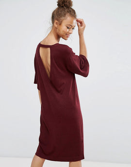 B.Young Pencil Dress - Red wine