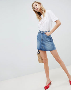 Monki Denim Skirt - Blue