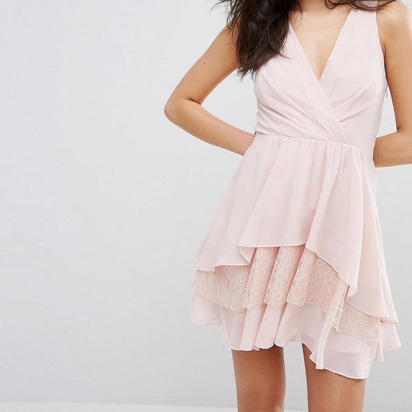 BCBGeneration Lace Detail Sundress - Rose smoke