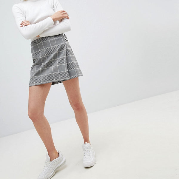 Weekday Check Mini Skirt - Checked