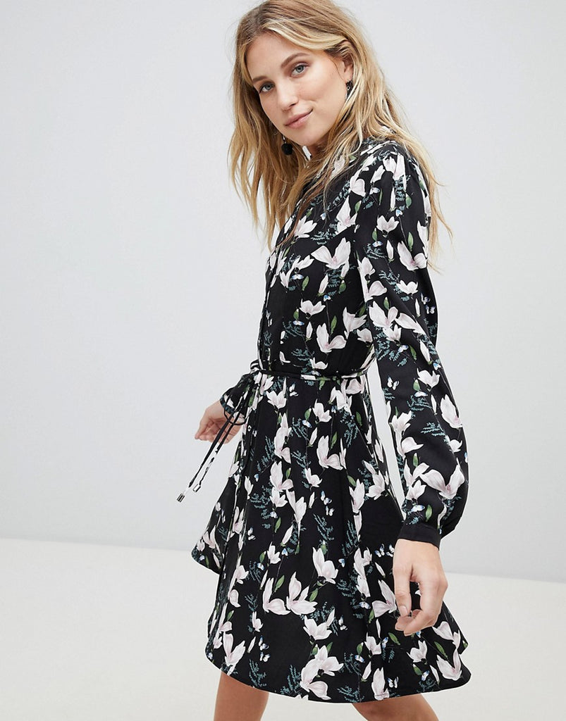 Oasis Blossom Print Skater Shirt Dress - Multi