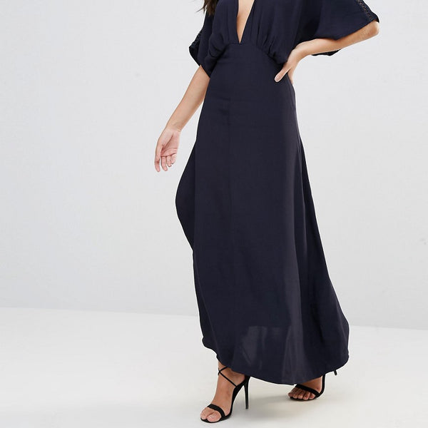 Foxiedox Jasmine Wrap Dress - Navy