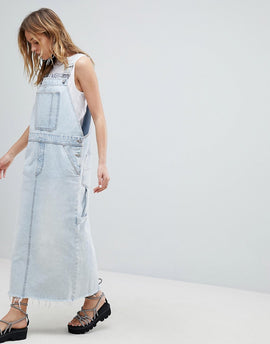 Cheap Monday 90s Dungaree Dress - Tom blue