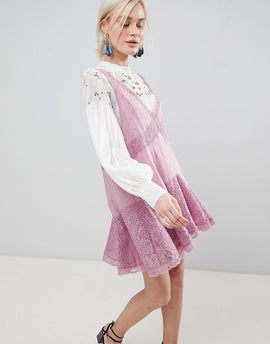 Free People Any Party Trapeze Dress - Mauve