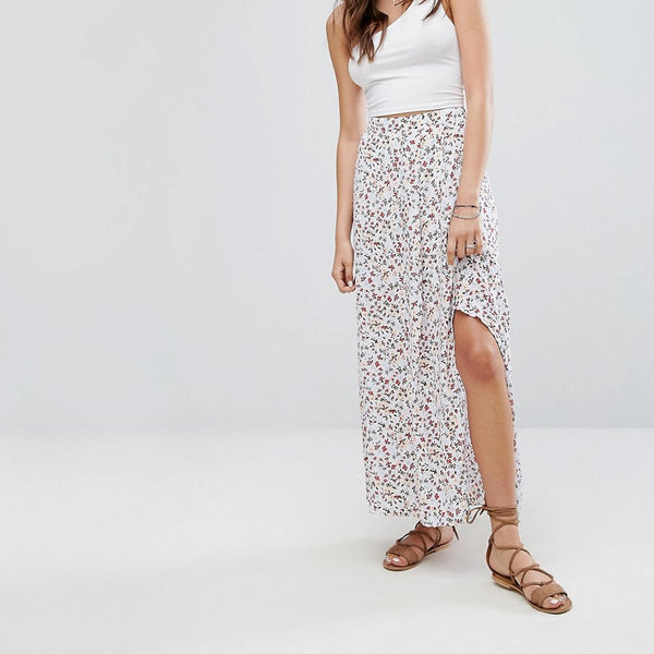 Abercrombie & Fitch Paisley Maxi Skirt - Navy