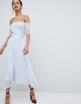 Coast Imi Lace Maxi Dress - Blue