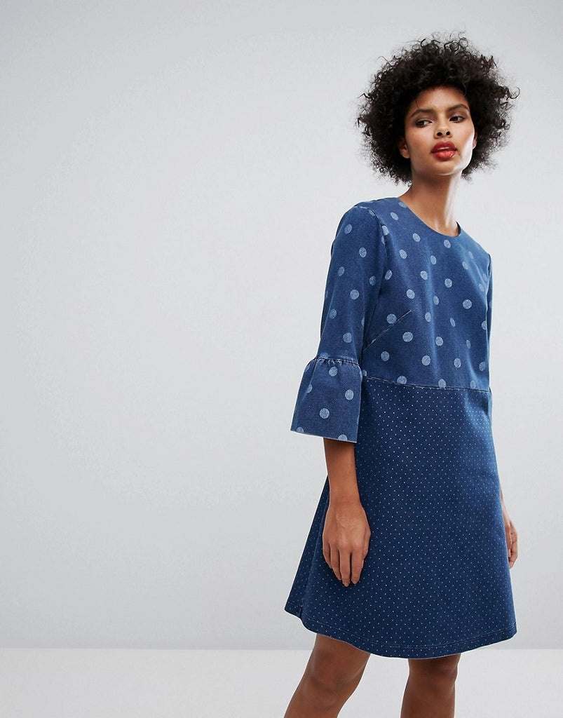 PS By Paul Smith Denim Spot Dress - Blue