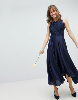 Coast Jannie Midi Dress - Navy