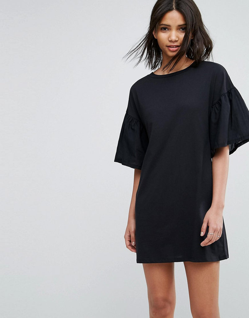 Vero Moda Oversize Sleeve Shift Dress - Anthracite