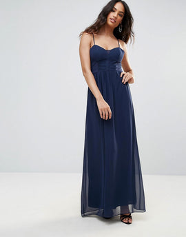 BCBG Navy Strappy Maxi Evening Dress - Dark navy